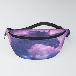 galaxy unicorn Dust Space  silhouette Fanny Pack