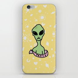 Peace Out Alien iPhone Skin