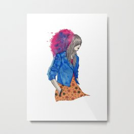 Pink/Blue Metal Print