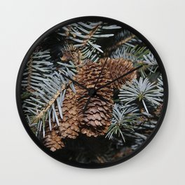 Spruce Cones And Branches Wall Clock