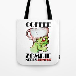 coffee zombie Tote Bag