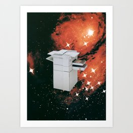 Untitled (Photocopier in Space) Art Print