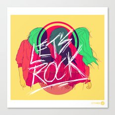 Let's Rock Canvas Print