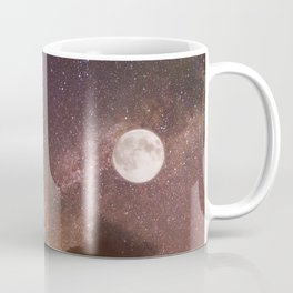 Celestial Night Sky and Full Moon Coffee Mug