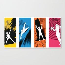 Superhero Squad - 4 Panels Canvas Print