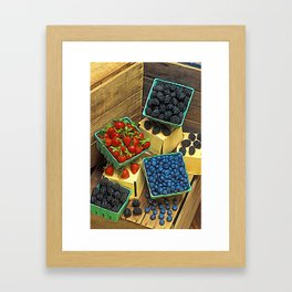 Boxed Berries Framed Art Print