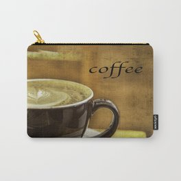 cappuccino coffee textured art Carry-All Pouch
