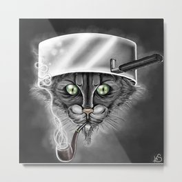 Xavier the Cat Metal Print