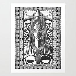 Legend of Zelda Midna the Twilight Princess Line Work Art Print