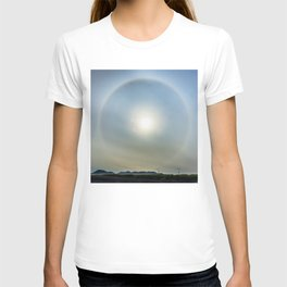 Plane in the Sun circle T-shirt