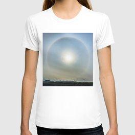 Plane in the Sun circle T-shirt