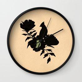 Indiana - State Papercut Print Wall Clock