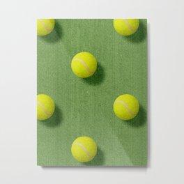 BALLS / Tennis (Grass Court) / Pattern Metal Print