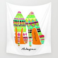 heels Wall Tapestries featuring Aztec - Heels by RsDesigns