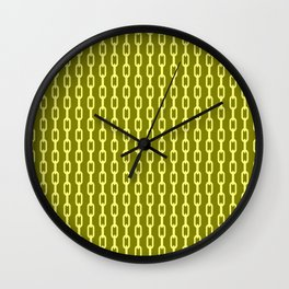 Chainlink No. 1 -- Yellow Wall Clock