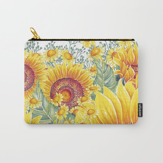 Vintage Garden 15 (Sunflower Field) Carry-All Pouch