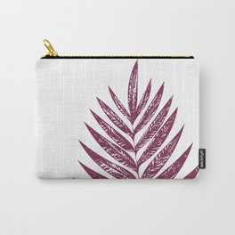 Simple Botanical Design in Dark Plum Carry-All Pouch