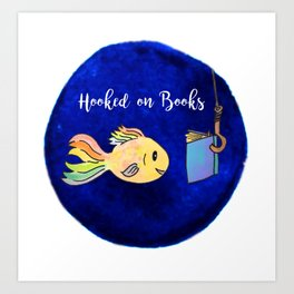 Hooked on Books Art Print