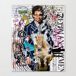 I am Shy - Magazine Collage Painting Canvas Print