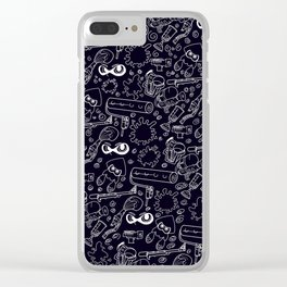Splats 'n Guns (Black) Clear iPhone Case