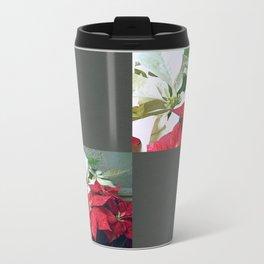 Mixed color Poinsettias 3 Blank Q6F0 Travel Mug