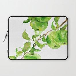 green apple watercolor Laptop Sleeve