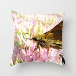 Watercolor Butterfly, Sachem Skipper Butterfly 02, Middletown, Maryland Throw Pillow