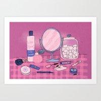 Beauty Products Art Print