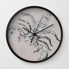 Scorpdala B&W Wall Clock