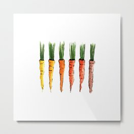 Happy colorful carrots Metal Print