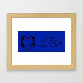Major Cinnamon Buns - Red vs. Blue Caboose Framed Art Print