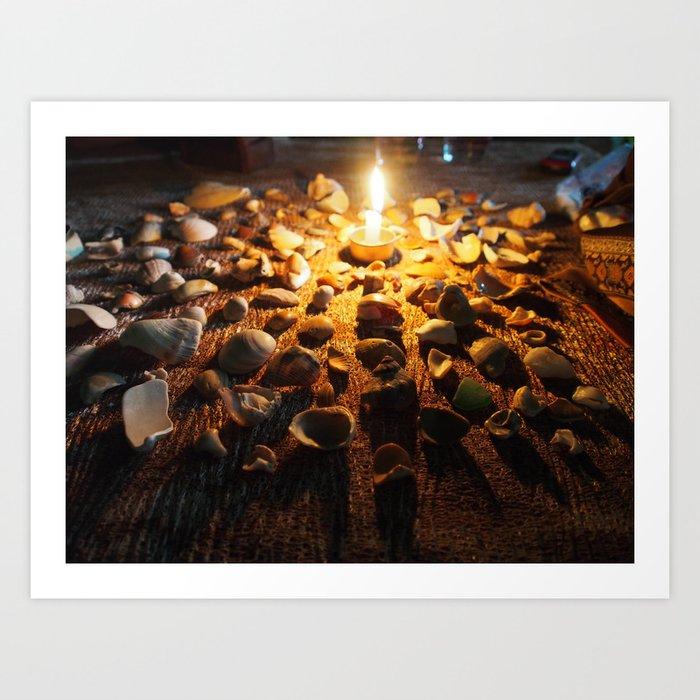 Coastal Candlelight Art Print
