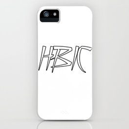 HBIC Retro Letters iPhone Case