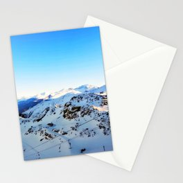 Shades of blue at the mountains Stationery Cards