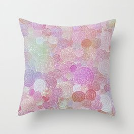 Abstract pink rosegold glamour glitter circles for ladies Throw Pillow
