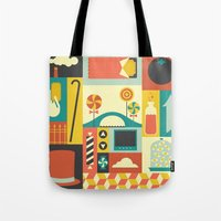 charlie Tote Bags featuring Charlie by Ariel Wilson