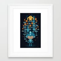 megaman Framed Art Prints featuring MEGAMAN METTA by Jon Reinfurt
