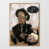tom waits Canvas Prints featuring Tom Waits? by Andy Christofi