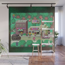 Earthbound town Wall Mural