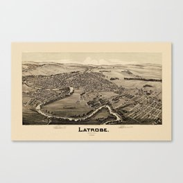 Map Of Latrobe 1900 Canvas Print