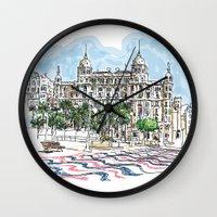 spain Wall Clocks featuring Spain  by Pablo Garcia