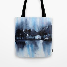 Blue Tree Reflections Tote Bag