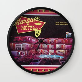 Marquee Motel in North Wildwood, New Jersey. 1960's Retro Motel Wall Clock