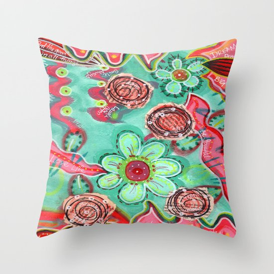 Throw Pillow Home Is Where The Doodle Is : Doodle Background Throw Pillow by Julie M Studios Society6