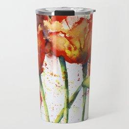 Lush Orange Spring Poppies Travel Mug