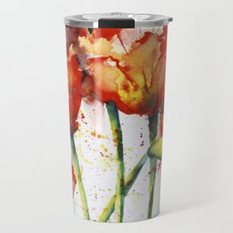 Lush Orange Spring Poppies Travel Mug