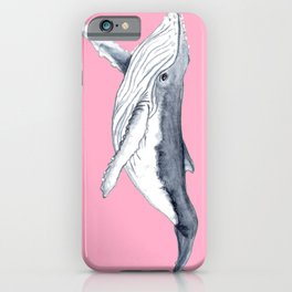 Cute Baby humpback whale pink for girls iPhone Case