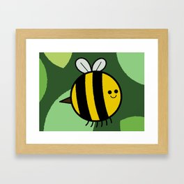 Cutesy Crawlies — Bumblebee Framed Art Print