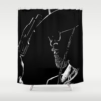 django Shower Curtains featuring Django by JessicaBader