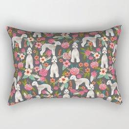 Bedlington Terrier floral dog breed gifts for unique pet lover Rectangular Pillow